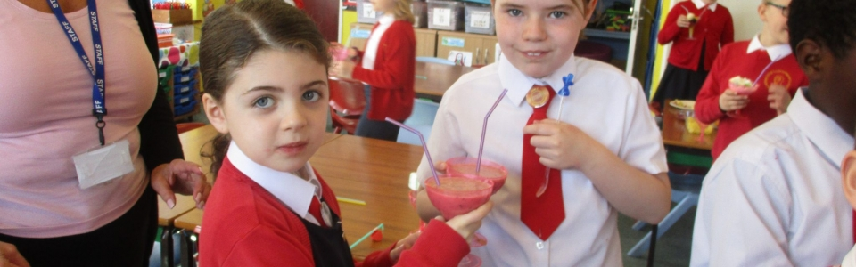 Fruity concoctions for Nazareth, this half term's champions!